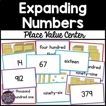 Place Value Center - Expanding Numbers / Expanded Form