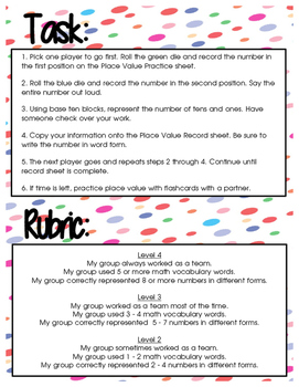 Place Value Center Packet