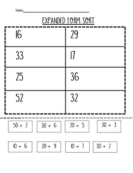 Place Value Centers and Worksheets- Tens and Ones