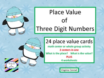 Place Value Center and Worksheets--Winter Theme