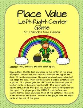 Place Value Center/Game Bundle -  St. Patrick's Day Theme