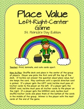 Place Value Center/Game Bundle -  St. Patrick's Day Theme