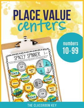 Place Value Centers Numbers 10 to 99 for 1st Grade