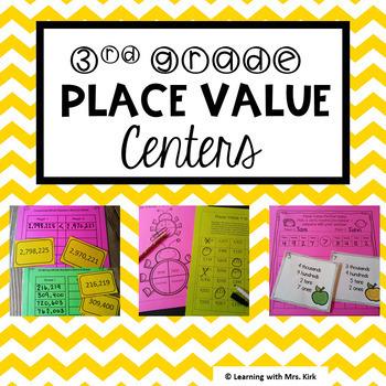 Place Value Centers (3rd Grade) Bundle TEKS 3.2A, 3,2B, 3,2C, 3,2D