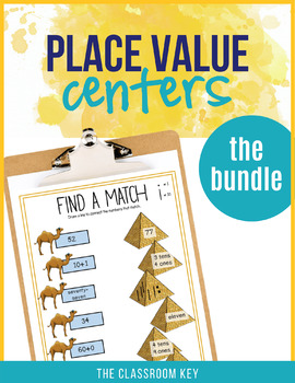 Place Value Centers Differentiated Bundle