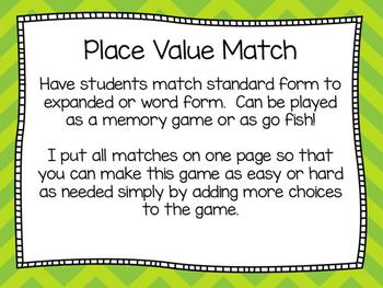 Place Value Centers: Eureka Math Module 3