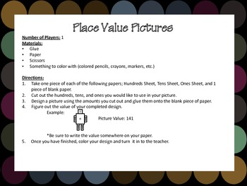 Place Value Centers & Game Pack