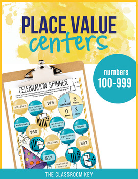 Place Value Centers Numbers 100 to 999 for 2nd Grade