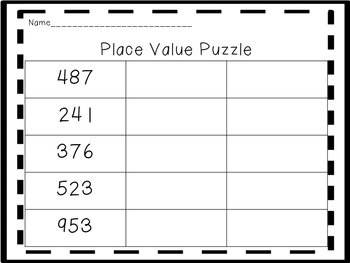 Place Value Centers-Preview