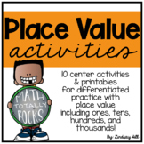 Place Value Centers & Printables