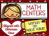 Place Value Centers Valentines Math