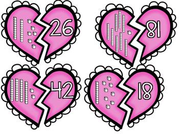 Place Value Centers Valentines Math