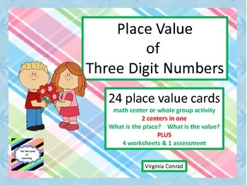 Place Value Centers & Worksheets---Valentine's Day Theme