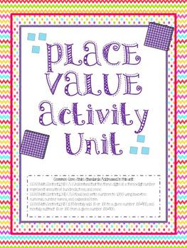 Place Value Centers and Activities - Common Core Aligned - Chevron Inspired!