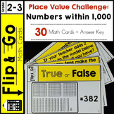 Place Value Challenge Edition - Flip & Go Cards
