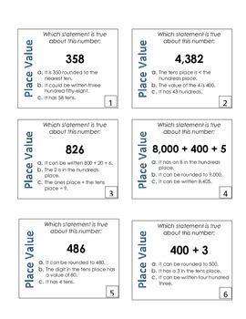 Place Value Challenge Task Cards