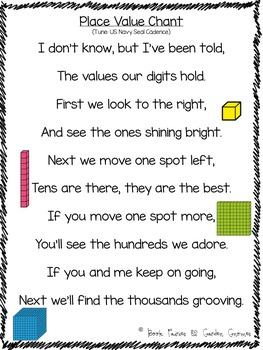 Place Value Chant