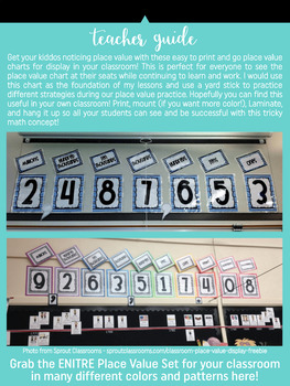 Place Value Chart Display // Black & White {Freebie}