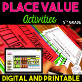 Place Value Chart Activities {5th Grade}