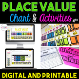 Place Value Chart & Activities Bundle {4th Grade}