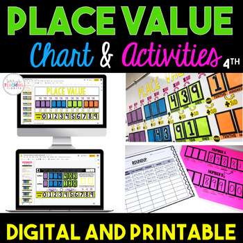 Place Value Chart & Activities Bundle {4th Grade} by Terry\'s ...