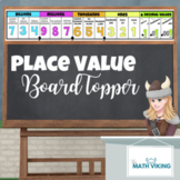 Back to School Math Decor Place Value Chart Board Topper Long Poster Banner