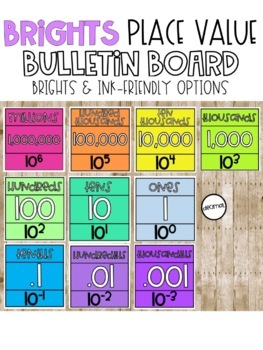 Place Value Chart - Bright