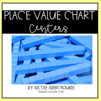 Place Value Chart Centers- Two Digit Numbers