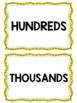 Place Value Chart Display // Yellow {Polka Dot}