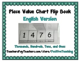 Place Value Chart Flip Book - English (Thousands, Hundreds, Tens, and Ones)