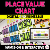 Place Value Chart Bundle {Digital & Paper Version} - Distance Learning