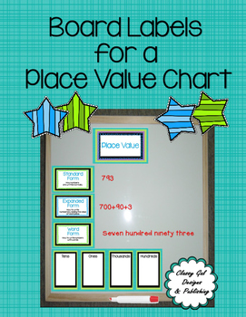 Number of the Day with Place Value Chart Labels and Center