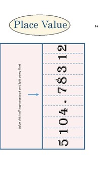 Place Value Chart/Notes/Foldables