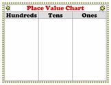 Place Value Chart Poster or Work Mat for Students Ones Period - Superstars Theme