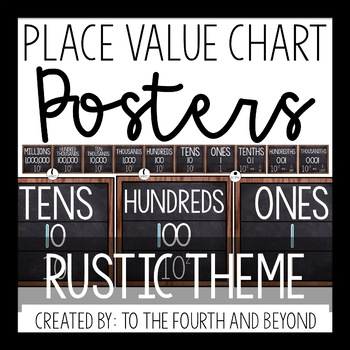 Place Value Chart Posters Rustic Theme By To The Fourth And Beyond