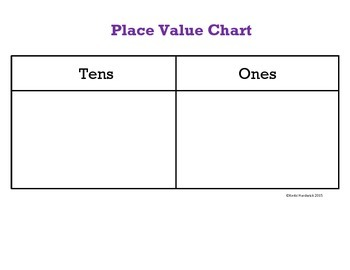 Place Value Chart Primary Grades FREEBIE