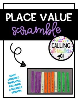 Place Value Chart Scramble