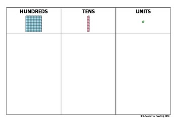 Place Value Chart - Hundreds, Tens and Units