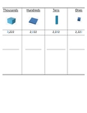 Place Value Chart (With Base 10 Block Visuals)