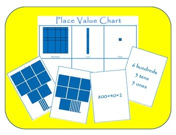 Place Value Chart and Game – Word Form, Standard Form, Exp