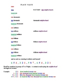 Place Value Chart and Number Words