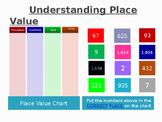 Interactive Place Value Chart with numbers to put in the c