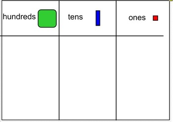 Place Value Chart for Smart Board