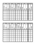 Place Value Chart - hundredths to hundred billions
