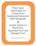 Place Value Chart with Activity Sheets 4.NBT.2.