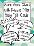 Place Value Chart with Debbie Diller Style Talk Cards