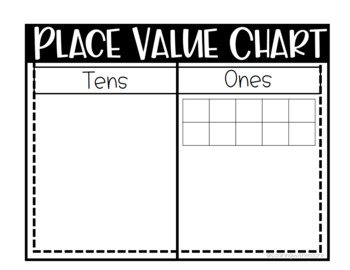 Place Value Chart with Task Cards AND Recording Sheet