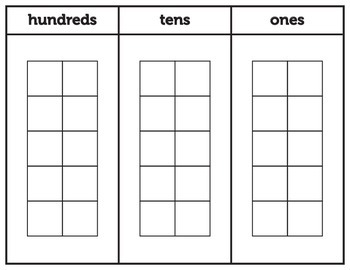 Place Value Chart with ten frames