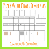 Place Value Charts Clip Art for Commercial Use