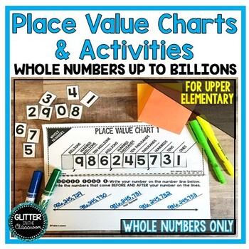 Place Value Charts & Activities - Whole Numbers - Up To Billions